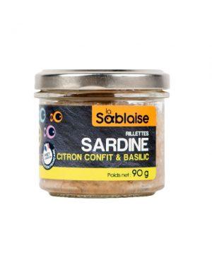 Rillettes de Sardines au citron confit et au basilic von LA SABLAISE